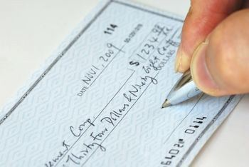 How to write account pay check